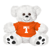 Plush Big Paw 8 1/2 inch White Bear w/Orange Shirt-Flag T