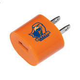 Orange USB A/C Adapter-UT Tyler w/ Eagle Head