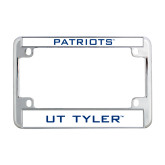 Metal Motorcycle License Plate Frame in Chrome-Patriots