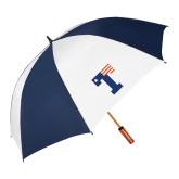 62 Inch Navy/White Vented Umbrella-Flag T