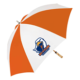 62 Inch Orange/White Umbrella-UT Tyler w/ Eagle Head