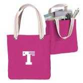 Allie Fuchsia Canvas Tote-Flag T