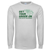 White Long Sleeve T Shirt-Get Your Green On