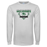 White Long Sleeve T Shirt-UVU Baseball