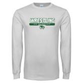 White Long Sleeve T Shirt-UVU Wrestling