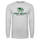 White Long Sleeve T Shirt-Utah Valley University