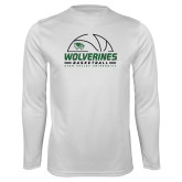 Performance White Longsleeve Shirt-UVU Basketball