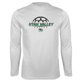 Performance White Longsleeve Shirt-Wolverines Soccer