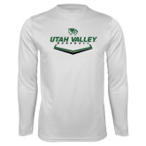 Performance White Longsleeve Shirt-Wolverines Baseball