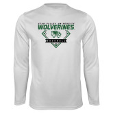 Performance White Longsleeve Shirt-UVU Baseball