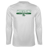 Performance White Longsleeve Shirt-UVU Wrestling