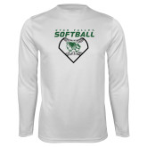 Performance White Longsleeve Shirt-Wolverine Softball