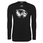 Under Armour Black Long Sleeve Tech Tee-Primary Logo