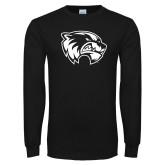 Black Long Sleeve T Shirt-Primary Logo