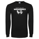 Black Long Sleeve T Shirt-Secondary Logo