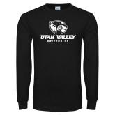 Black Long Sleeve T Shirt-Utah Valley University