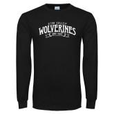 Black Long Sleeve T Shirt-Utah Valley Wolverines Est 1941