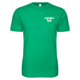 Next Level SoftStyle Kelly Green T Shirt-Secondary Logo