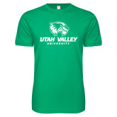 Next Level SoftStyle Kelly Green T Shirt-Utah Valley University