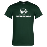 Dark Green T Shirt-Utah Valley Wolverines Logo