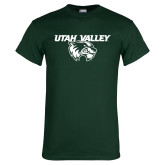 Dark Green T Shirt-Utah Valley Logo