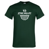 Dark Green T Shirt-Wolverines Basketball