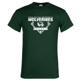 Dark Green T Shirt-UVU Baseball