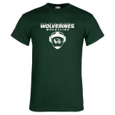 Dark Green T Shirt-Wolverine Wrestling