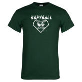 Dark Green T Shirt-Wolverine Softball
