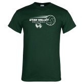 Dark Green T Shirt-Wolverine Volleyball