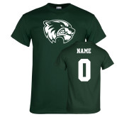 Dark Green T Shirt-Primary Logo, Custom Tee w/ Name and #