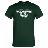 Dark Green T Shirt-Secondary Logo