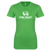Next Level Ladies SoftStyle Junior Fitted Kelly Green Tee-Wrestling