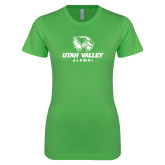 Next Level Ladies SoftStyle Junior Fitted Kelly Green Tee-Alumni