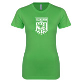Next Level Ladies SoftStyle Junior Fitted Kelly Green Tee-UVU Soccer