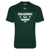 Under Armour Dark Green Tech Tee-UVU Baseball