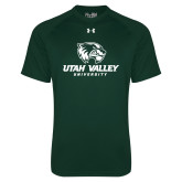 Under Armour Dark Green Tech Tee-Utah Valley University