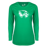 Ladies Syntrel Performance Kelly Green Longsleeve Shirt-Primary Logo