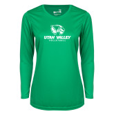 Ladies Syntrel Performance Kelly Green Longsleeve Shirt-Volleyball
