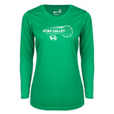 Ladies Syntrel Performance Kelly Green Longsleeve Shirt-Wolverine Volleyball