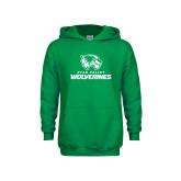 Youth Kelly Green Fleece Hoodie-Utah Valley Wolverines Logo