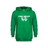 Youth Kelly Green Fleece Hoodie-Utah Valley Logo