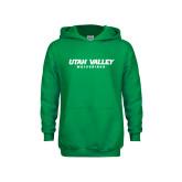 Youth Kelly Green Fleece Hoodie-Utah Valley Word Mark