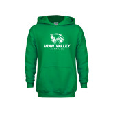 Youth Kelly Green Fleece Hoodie-Softball