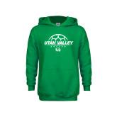Youth Kelly Green Fleece Hoodie-Wolverines Soccer