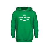 Youth Kelly Green Fleece Hoodie-Wolverines Baseball