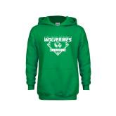 Youth Kelly Green Fleece Hoodie-UVU Baseball