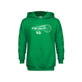 Youth Kelly Green Fleece Hoodie-Wolverine Volleyball
