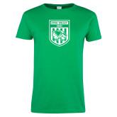 Ladies Kelly Green T Shirt-UVU Soccer