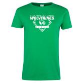 Ladies Kelly Green T Shirt-UVU Baseball